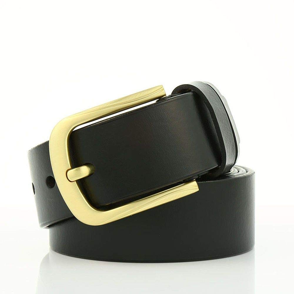 Rcnry Leather Belt Alloy Needle Buckle Mens Belt