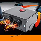 12V 500W Car Defroster,Car Windscreen Heater,with 2 Outlet for Vehicle RV SUV Truck