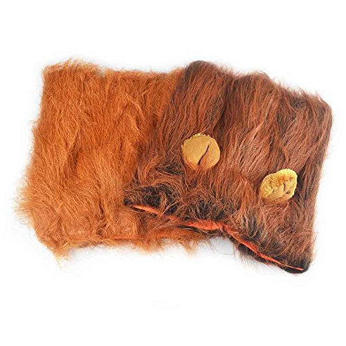 Alotm Lion Mane for Dog Costume - Lion Wig for Medium to Large Sized Dogs Lion Mane Wig for Dogs (Dark Brown)