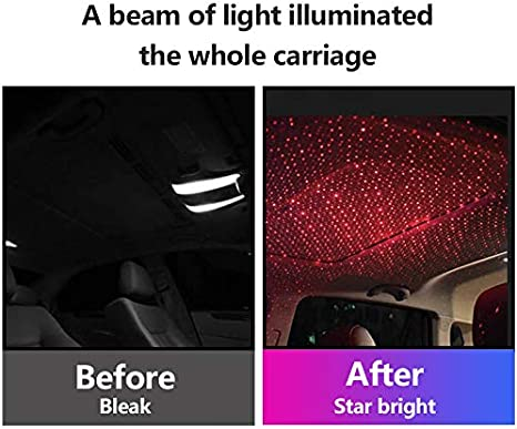 Voice Control-Red Univegrow LED Roof Atomphere Light Adjustable Multiple Modes USB Night Star Ceiling Lights LED Roof Star Light Car Star Lights Projector for Car//Home//Party