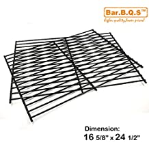 Bar.B.Q.S 52932 Porcelain Steel Replacement Cooking Grid for Centro, Charbroil, Front Avenue, Fiesta, Kenmore, Kirkland, Kmart, Master Chef, and Thermos Gas Grill (Set of 2)