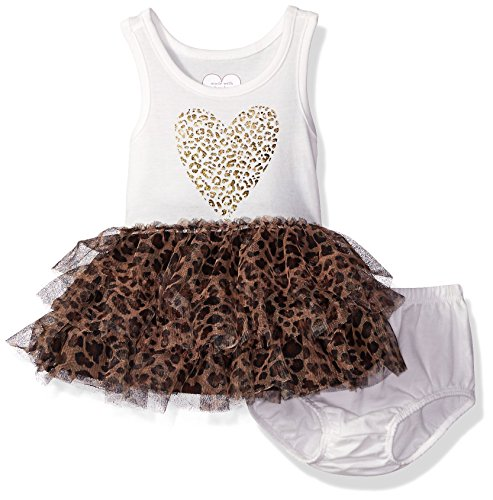[The Children's Place Baby Leopard Dress Set, Simply White, 3-6 Months] (Baby Animal Dresses)