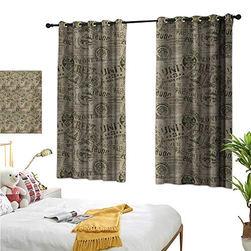 (Grunge Decorative Curtains for Living Room Nostalgic Pins from Different Countries Uniform Style Graphic Design Pattern W55 x L45,Suitable for Bedroom Living Room Study, etc.)