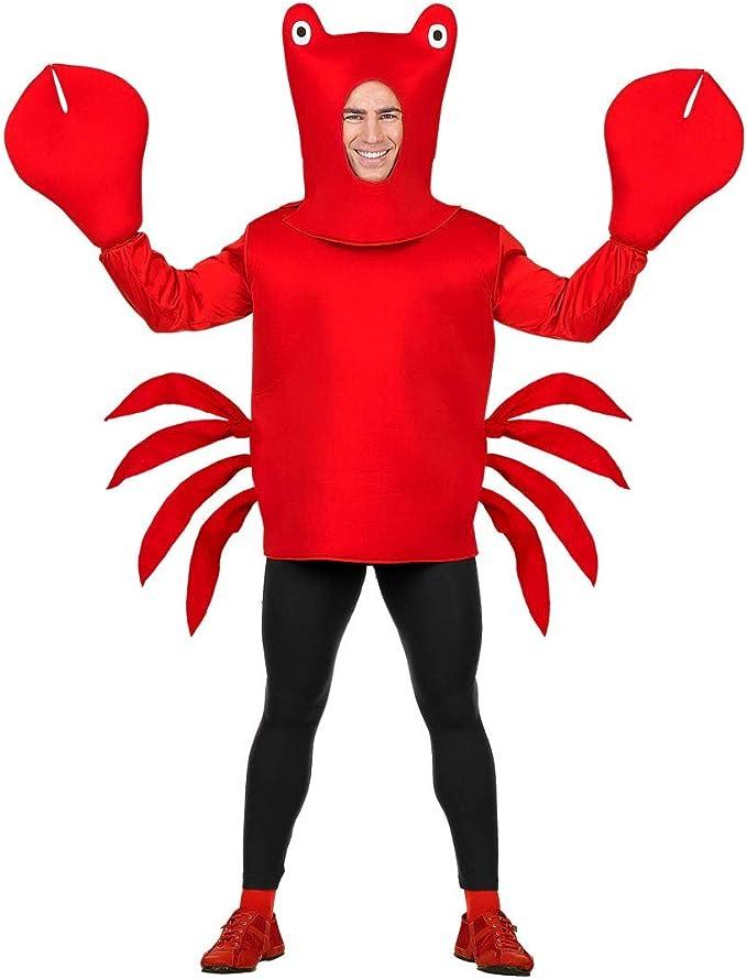 WIDMANN 02463 Adultos Disfraz Cangrejo, Color Rojo: Amazon.es ...