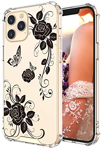 Cutebe Clear Case for iPhone 12 Pro Max, Shockproof Series Hard PC+ TPU Bumper Protective Case for iPhone 12 Pro Max 6.7…