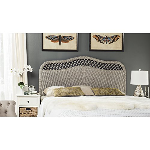 Safavieh Home Collection Sephina Antique Grey Rattan Headboard (Full) (Rattan Antique)