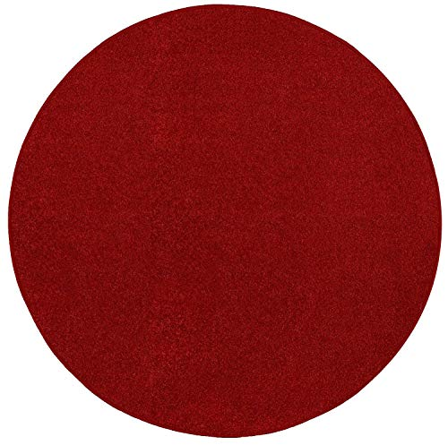 Ambiant Broadway Collection Kids Favorite Red 3' Round - Area Rug