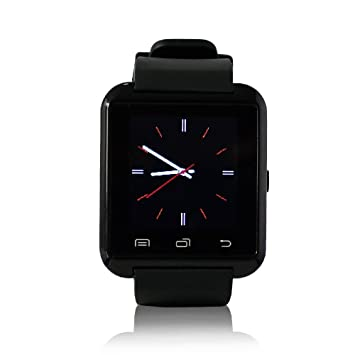 YUNTAB U8 Montre Intelligente SmartWatch Montre connectée Bluetooth V2.0 Bracelet, compatible avec IOS