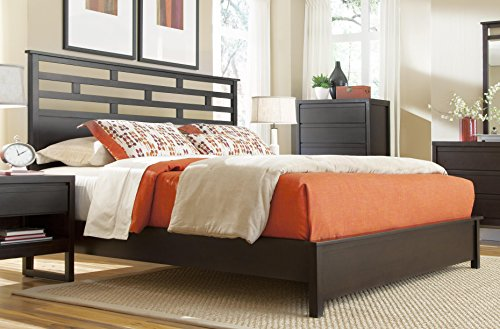 Progressive Furniture Athena 5/0 Queen Panel Headboard, Dark Chocolate