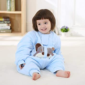 Gleecare Saco de Dormir para bebé,Otoño e Invierno algodón Fino algodón Anti-Kick edredón bebé piernas Saco de Dormir niños y niñas Pijama Mameluco 0-3 años ...