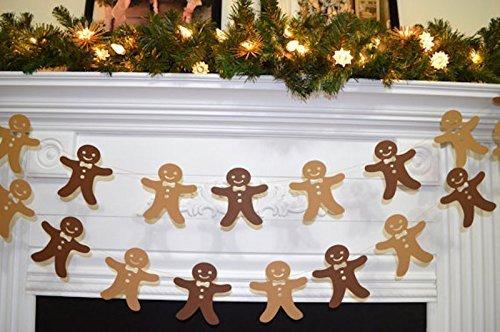 Gingerbread man garland, Christmas Garland, Country Christmas, Christmas Photo Prop, Children Christmas decor, paper garland