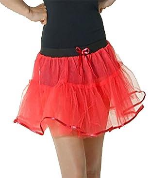 Islander Fashion Women 4 Capa Red Devil Tutu Falda con Lazo y ...
