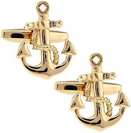 ゴールド 錨 アンカー カフス カフスボタン カフリンクス n01389