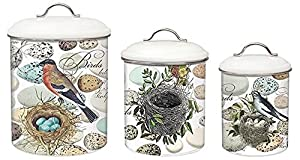 Michel Design Works 3-Piece Metal Kitchen Canister Set