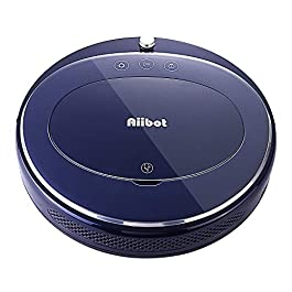 Aiibot T360 Robot Vacuum Pet Hair Care, 1200Pa Strong Suction, Quiet Robotic Vacuum Cleaner Super-Thin Self-Charging, Anti-Collision, Hardwood, Tile Floors, Marble, Medium-Pile Carpets (Blue)