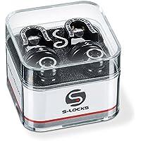 Schaller 14010401 Security Straplocks, Black Chrome