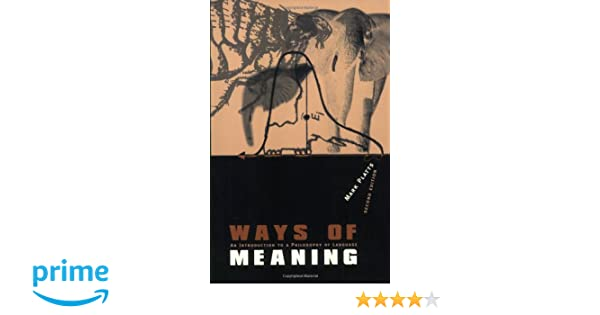Amazon com: Ways of Meaning - 2nd Edition: An Introduction