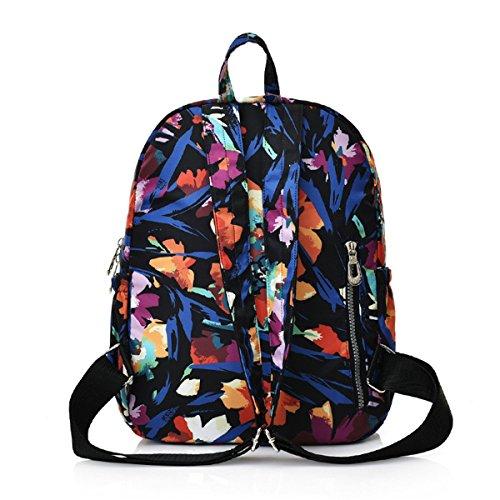 capacité LUXIAO dos Nouvelle grande de imperméable sauvages la sac couleur de des fleurs à mode 6 à mode impression l'eau ZgUdrqxZ