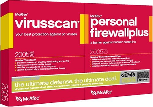 McAfee Virusscan 2005 9.0 and Firewall 2005 6.0 Bundle [LB]