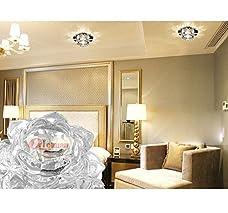 Modern LED Crystal Chandelier Aisle Ceiling Lighting Round Pendant Lamp Balcony Light