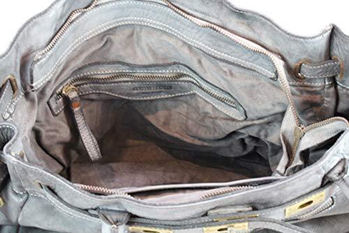 B2075 0221 Estilo Mujer vintage XL de Cuero BZNA pTdqHwT