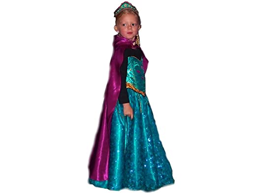 Handmade Princess Costume Womenu0027s Elsa Princess Dress Frozen Disguise Adult Custom Made Esmerald Green With Fiusha  sc 1 st  Amazon.com & Amazon.com: Handmade Princess Costume Womenu0027s Elsa Princess Dress ...