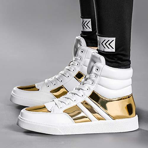 Moda Lovdram Scarpe Casual Gold Autunno Da Uomo Sportive White Stivali Alte Verdi Martin qAxvq4Oa