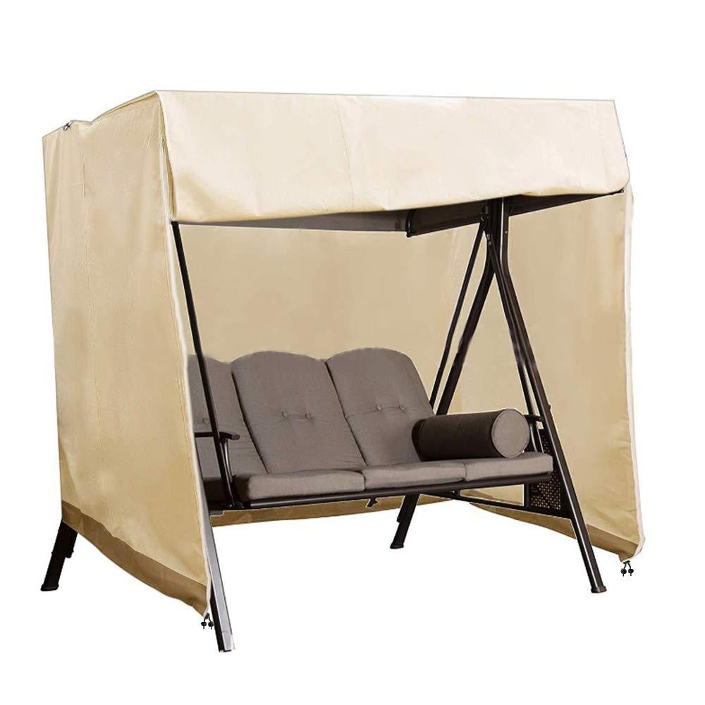 BullStar Patio Swing Chair Cover 3 Triple Seater Outdoor Hammock Cover Waterproof Windproof Furniture Protector 87'' LX67 HX50 W,Beige by BullStar