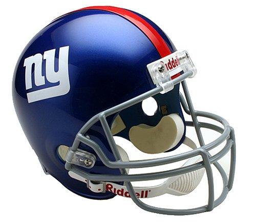 NFL New York Giants Deluxe Replica Football Helmet]()