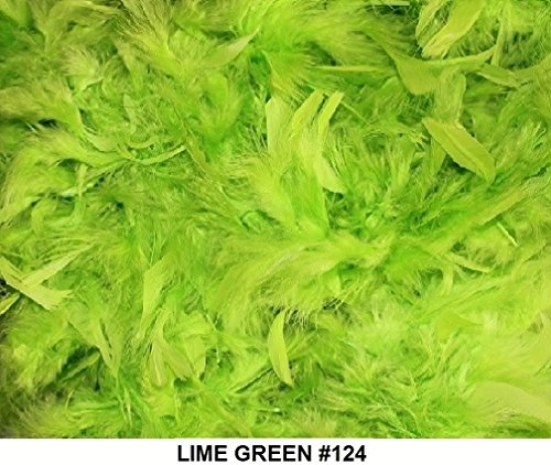 (Cozy Glamour Over 35 Different Solid Color Boas 6 Feet Long 50 Gram Weight (Lime Green)