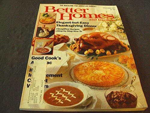 Better Homes and Gardens Nov 1987 Elegant and East Thanksgiving Dinner