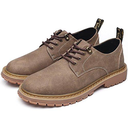 piatte stringate Colore stringate alto Oxford shoes Scarpe da 44EU basse uomo Xujw 2018 Khaki Scarpe dimensione Khaki tacco di q60xtn4w