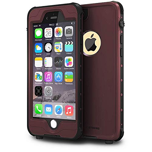 ImpactStrong iPhone 6 Waterproof Case [Fingerprint ID Compatible] Slim Full Body Protection Cover for Apple iPhone 6 / 6s (4.7) - Coffee