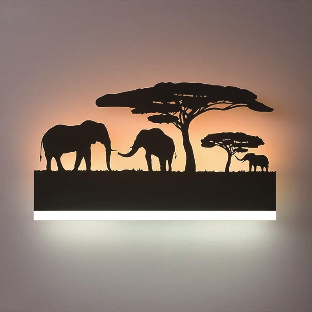 SLIANG Wandleuchte Nachttischlampe Schlafzimmer Schlafzimmer Nordic Wohnzimmer Treppenhaus Flur Lampe Kreative Tier Hintergrund Wand Hängen Lampe 24 Watt Breite: 38 cm (Farbe : C)