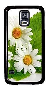 retro Samsung Galaxy S5 covers White Flowers Natures PC Black Custom Samsung Galaxy S5 Case Cover