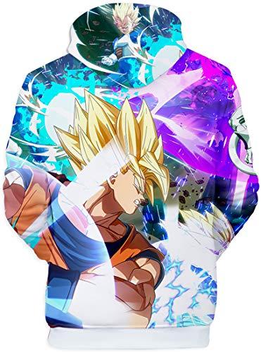 Son Pull Super Poche Homme 3d Pourpre Capuche Kangourou À Goku Dragon Impression Flychen 1048 Ball Avec Sweats qfP8zz