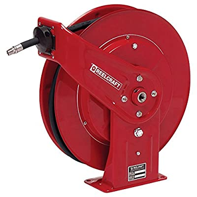 Reelcraft 7650 OHP 3/8-Inch by 50-Feet Spring Driven Hose Reel for Grease