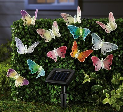 Solar Fiber Butterfly String Lights