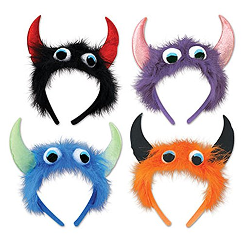 Monster Costume Party Headbands Pack Of 4 (Most Requested Halloween Costume)