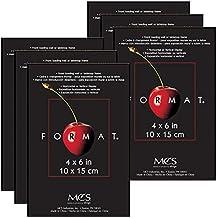 MCS 4x6 Inch Format Frame 6-Pack, Black (65644)