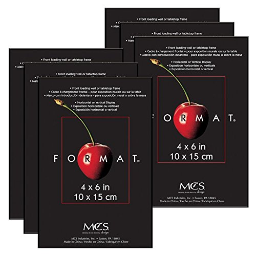 MCS 4x6 Inch Format Frame 6-Pack, Black - Frames Popular Glass