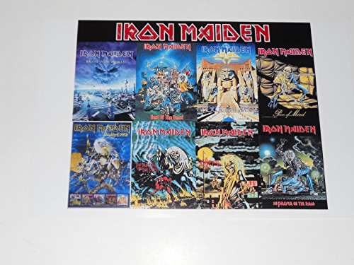 """Large Iron Maiden Album Cover Poster Killers, Powerslave, Life After Death 19"""" by 13"""""""