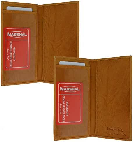 Marshal Checkbook Covers - Set of 2 - Genuine Leather (Tan-Tan)