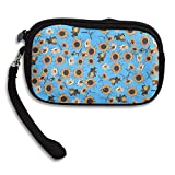 Sunflowers And Bee Comfortable Coin Purse Storage Package Wallet Zipper Change Holder Bag Key Wristlet Wallet Handbag Wallet Zipper Mini Wallet For Men & Women