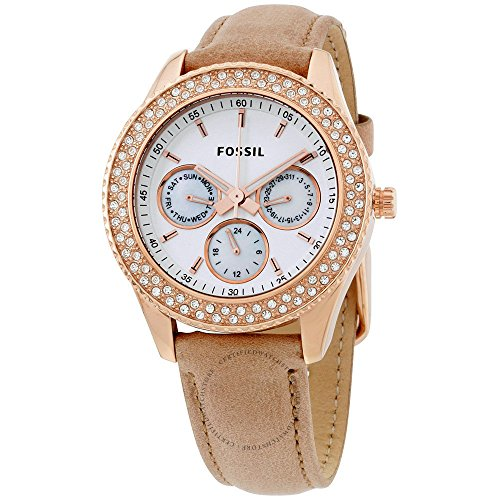 Fossil-Womens-ES3104-Stainless-Steel-Analog-White-Dial-Watch