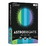 Astrobrights Color Paper - Cool Assortment, 24lb, 8 1/2 x 11, 5 Colors, 500 Sheets