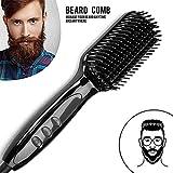 Men Quick Beard Straightener Comb Irons Hair Straightener Styling Tools With LCD Beard Comb Styling Detangling Straightening