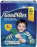 Health & Personal Care : GoodNites Bedtime Underwear Boys S-M - 31 CT