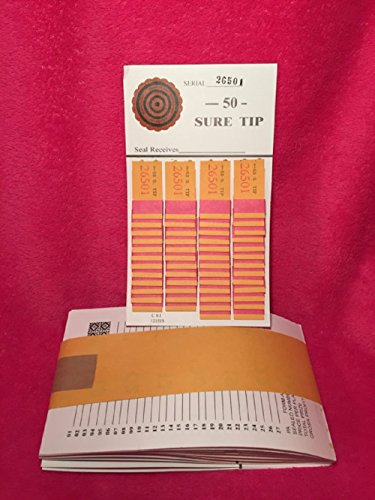 Opmnla 1 Dozen 50 Sure Tip Board Fund Raising Raffle Bingo Pull Tab Jar Raffle Tickets VTG Key