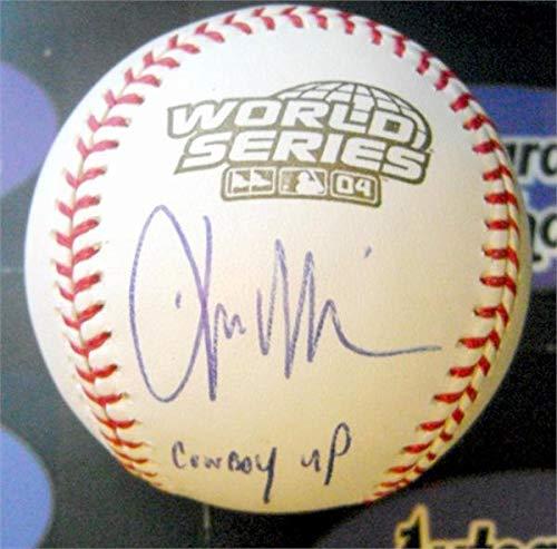 (Kevin Millar Signed Baseball - 2004 World Series inscribed Cowboy Up - Autographed Baseballs)